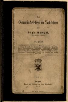 Das Gemeindeleben in Schlesien, T. 12