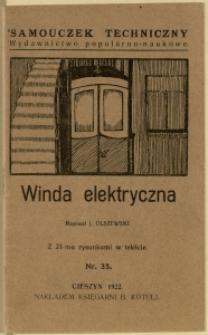 Winda elektryczna : z 21-ma rysunkami w tekście