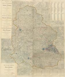 Kartographische Darstellung der Abstimmungs-Ergebnisse von Oberschlesien.6 Blätter