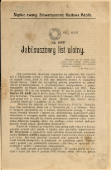 Jubileuszowy list ulotny