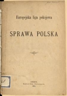Europejska liga pokojowa i sprawa polska