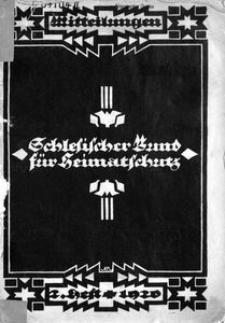 Mitteilungen des Schlesischen Bundes für Heimatschutz, 1920, H. 2