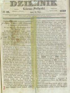 Dziennik Górno-Szlązki, 1849, nr 91