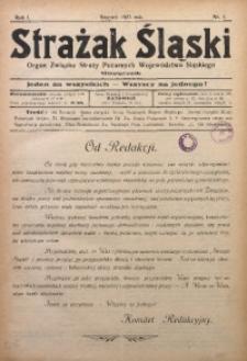 Strażak Śląski, 1927, R. 1, nr 1