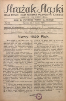 Strażak Śląski, 1929, R. 3, nr 1