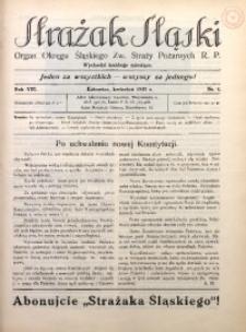 Strażak Śląski, 1935, R. 8, nr 4