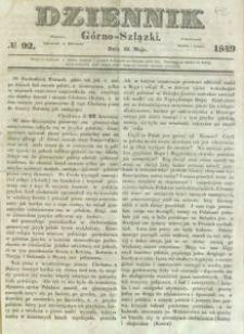 Dziennik Górno-Szlązki, 1849, nr 92