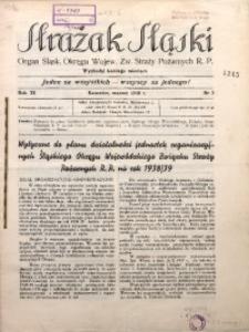 Strażak Śląski, 1938, R. 11, nr 3