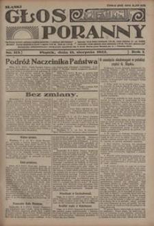 Głos Poranny, 1922, R. 1, nr 115