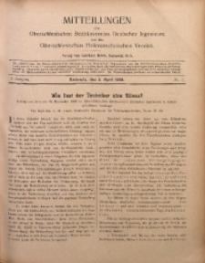 Mitteilungen des Oberschlesischen Bezirksvereins Deutscher Ingenieure und des Oberschlesischen Elektrotechnischen Vereins, 1909, Jg. 1, No. 7