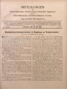 Mitteilungen des Oberschlesischen Bezirksvereins Deutscher Ingenieure und des Oberschlesischen Elektrotechnischen Vereins, 1910, Jg. 2, No. 12