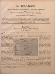 Mitteilungen des Oberschlesischen Bezirksvereins Deutscher Ingenieure und des Oberschlesischen Elektrotechnischen Vereins, 1910, Jg. 2, No. 20