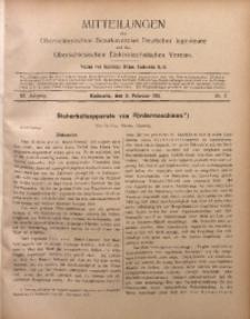 Mitteilungen des Oberschlesischen Bezirksvereins Deutscher Ingenieure und des Oberschlesischen Elektrotechnischen Vereins, 1911, Jg. 3, No. 3