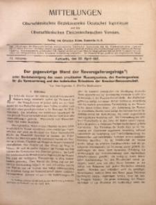 Mitteilungen des Oberschlesischen Bezirksvereins Deutscher Ingenieure und des Oberschlesischen Elektrotechnischen Vereins, 1912, Jg. 4, No. 8