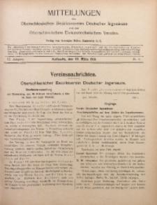 Mitteilungen des Oberschlesischen Bezirksvereins Deutscher Ingenieure und des Oberschlesischen Elektrotechnischen Vereins, 1914, Jg. 6, No. 6