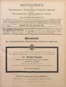 Mitteilungen des Oberschlesischen Bezirksvereins Deutscher Ingenieure und des Oberschlesischen Elektrotechnischen Vereins, 1915, Jg. 7, No. 17/18