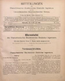 Mitteilungen des Oberschlesischen Bezirksvereins Deutscher Ingenieure und des Oberschlesischen Elektrotechnischen Vereins, 1916, Jg. 8, No. 13/14