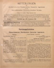 Mitteilungen des Oberschlesischen Bezirksvereins Deutscher Ingenieure und des Oberschlesischen Elektrotechnischen Vereins, 1916, Jg. 8, No. 17/18