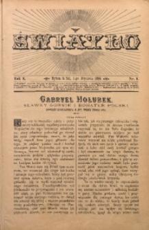 Światło, 1896, R. 10, nr 1