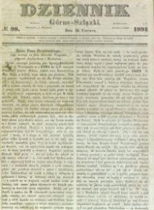 Dziennik Górno-Szlązki, 1849, nr 98
