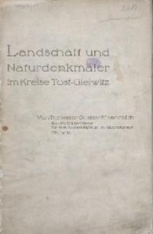 Landschaft und Naturdenkmäler im Kreise Tost-Gleiwitz