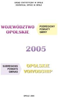 Województwo opolskie. Podregiony, powiaty, gminy, 2005