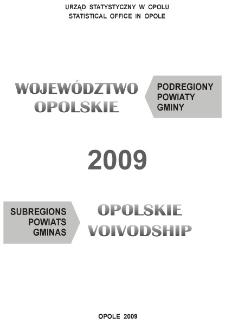 Województwo opolskie. Podregiony, powiaty, gminy, 2009
