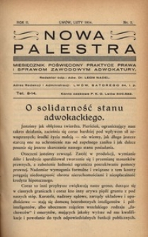 Nowa Palestra, 1934, R. 2, nr 2