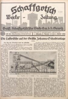 Schaffgotsch Werks-Zeitung, 1936, Jg. 4, nr 21