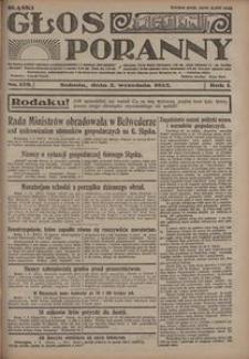 Głos Poranny, 1922, R. 1, nr 128