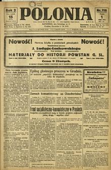 Polonia, 1925, R. 2, nr 118