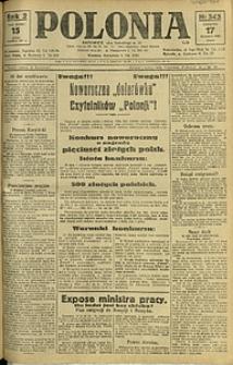 Polonia, 1925, R. 2, nr 343