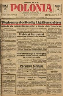 Polonia, 1926, R. 3, nr 254