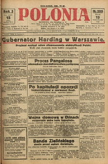 Polonia, 1926, R. 3, nr 289