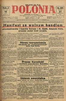 Polonia, 1926, R. 3, nr 291