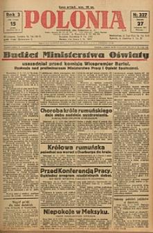 Polonia, 1926, R. 3, nr 327