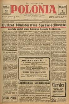 Polonia, 1926, R. 3, nr 331