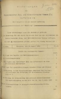 Mitteilungen des Oberschlesischen Berg- und Hüttenmännischen Vereins Z.z. zu Katowice, 1925, Jg. 1, nr 37
