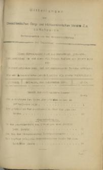 Mitteilungen des Oberschlesischen Berg- und Hüttenmännischen Vereins Z.z. zu Katowice, 1925, Jg. 1, nr 44