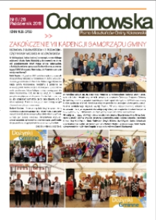 Colonnowska : pismo mieszkańców Gminy Kolonowskie 2018, nr 6 (213).