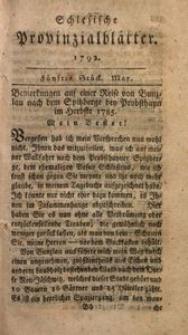 Schlesische Provinzialblätter, 1792, 15. Bd., 5. St.: May