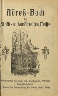 Adressbuch des Stadt- u. Landkreises Neisse 1912-1913