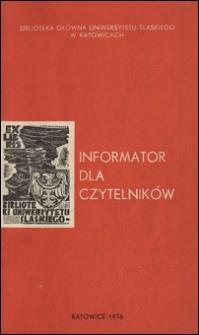 Informator dla czytelników