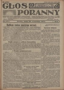 Głos Poranny, 1922, R. 1, nr 143
