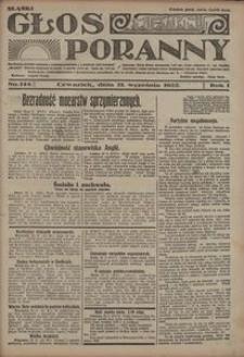 Głos Poranny, 1922, R. 1, nr 144