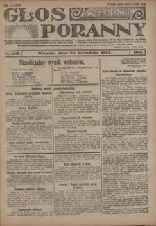 Głos Poranny, 1922, R. 1, nr 148