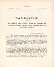 27. Provinzial-Landtag, Drucksache Nr. 29