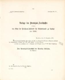 27. Provinzial-Landtag, Drucksache Nr. 61