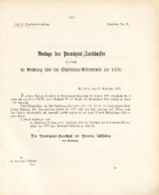 27. Provinzial-Landtag, Drucksache Nr. 79