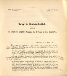 29. Provinzial-Landtag, Drucksache Nr. 1